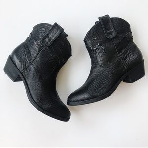 Sam Edelman Stevie Snake Print Western Boots